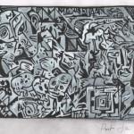 krijt/gouache op papier/30x40cm/2011
