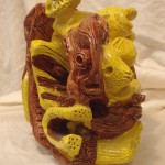 geglazuurde chamotte plm 25x30cm/2009